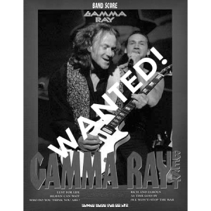 WANTED: Gamma Ray Best – Japan – Band Score Tab.