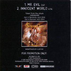 2007 – Mr Evil – Cds – Promo.