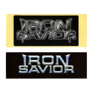 Iron Savior Stickers.