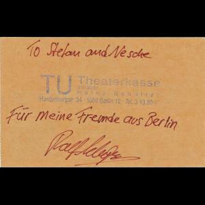 Gamma Ray Ticket – Berlin, 06-11-1991.