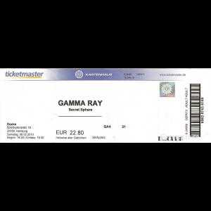 "Ticket – ""To The Metal"" Tour – Docks Hamburg 15 Jan 2010."