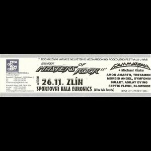 Ticket – Winter Masters of Rock – 2011-11-26 – Czech Republic.