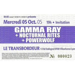 Ticket – Lyon – 5 Oct 2005.