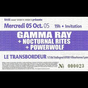 Ticket – Lyon – 5 Oct 2005.
