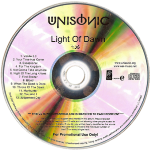 2014 – Light Of Dawn – Promo Cd.