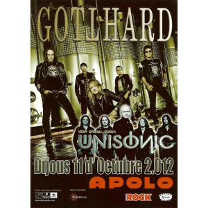 Unisonic Flyer – Barcelona – Spain 11/10 – 2012.