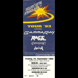 "Ticket – ""Melodic Metal Strikes Back!!"" 1993."