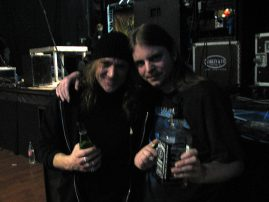 Kai & me after the show 20.01.06. Metropol Hultsfred Sweden.