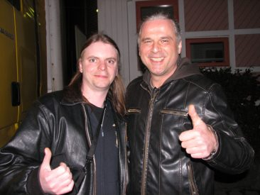After the show in Gothenburg Sweden the 6 April 2013. Kosta. Hellish Rock Part II