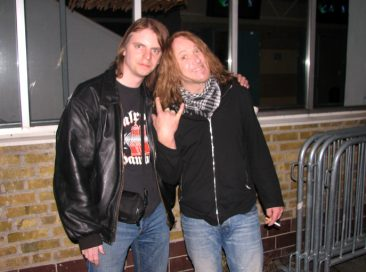 Me & Kai after the show 26.03.2010, Brewhouse Gothenburg.