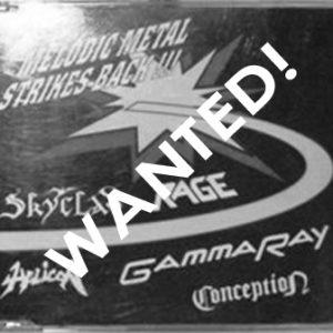 WANTED: 1993 – Melodic Metal Strikes Back!!! – Maxi Cd – Promo.