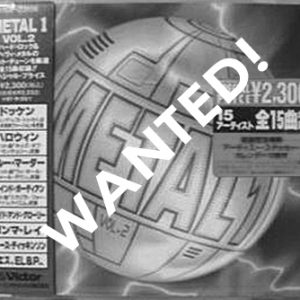 WANTED: 1995 – Metal 1 – Vol.2 – Japan – Cd.