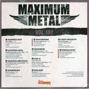2014 – Maximum Metal – Metal Hammer – Vol. 192 – Cd.
