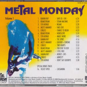 1992 – Metal Monday – Vol 1 – Cd.