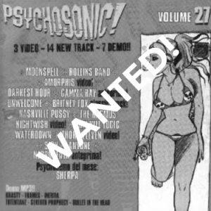 WANTED:  2001 – Psychosonic! – Vol 27 – Cd.