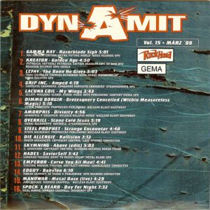 1999 – Rock Hard – Dynamit Vol 15 – Cd.