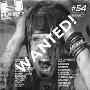 WANTED: 2001 – Rock Hard Sampler Nr 54 – Cd.