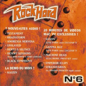 2001 – Rock Hard – Cd – Sampler Nr 6.