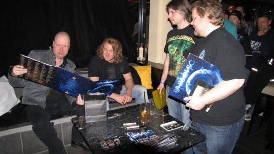 Unisonic - Meet & Greet Hamburg 29 March 2012. Tobias and I showing the Lp edition for Kiske & Kai.