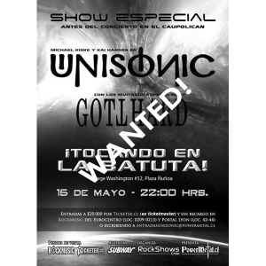 WANTED: Flyer – Chile – Santiago/La Batuta – 15.05.2012.