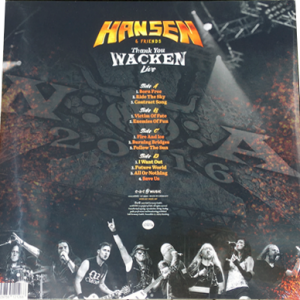 2017 – Hansen & Friends – Thank You Wacken Live – 2Lp.