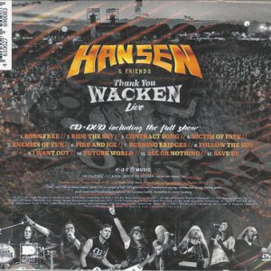2017 – Hansen & Friends – Thank You Wacken Live – Cd & Dvd – Russia.