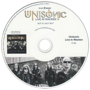 2017 – Live In Wacken – Cd & DVD – Promo.