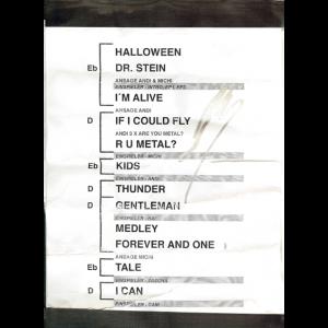 Helloween – Setlist – 2017.