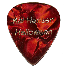 Kai Hansen´s Helloween Pick – Pumpkins United Tour.