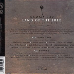 2017 – Land Of The Free – (Anniversary Edition) – 2Cd.