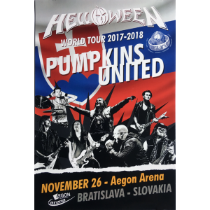 Helloween – Pumpkins United World Tour Flyer – Slovakia.