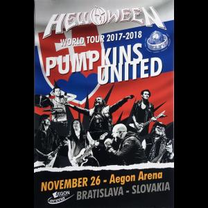 Helloween – Pumpkins United World Tour Flyer – Slovakia.
