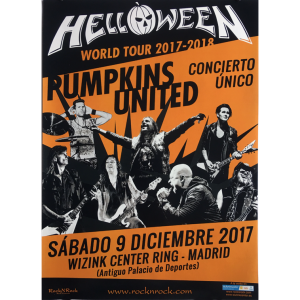 Helloween – Pumpkins United World Tour Flyer – Spain.