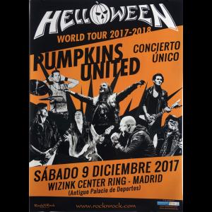 Helloween – Pumpkins United World Tour Flyer – Spain.