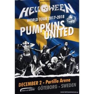 Helloween – Pumpkins United World Tour Flyer – Sweden.
