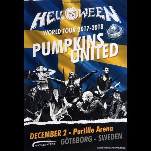 Helloween – Pumpkins United World Tour Flyer – Sweden.