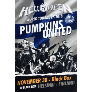 Helloween – Pumpkins United World Tour Flyer – Finland.