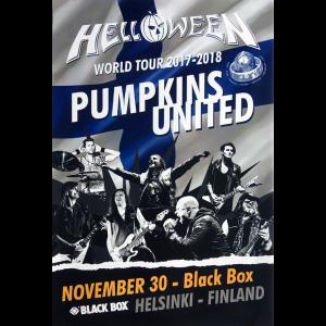 Helloween – Pumpkins United World Tour Flyer – Finland.