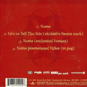 2004 – Nemo – 4 Track – Digipack Cds