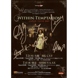 Japan Tour 2007 Flyer – Signed