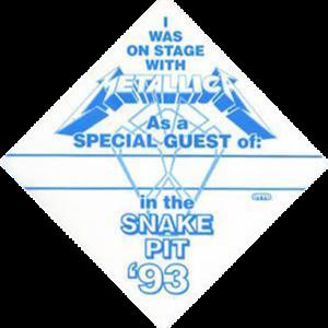 Snake Pit Backstage Pass 1993