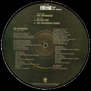 1991 – The Unforgiven – 7″ – Picture Disc
