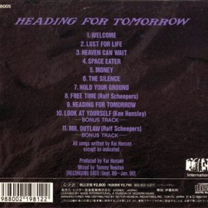 1990 – Heading For Tomorrow – Japan Cd.