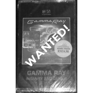 WANTED: 1993 – Insanity And Genius – Tape – Malaysia.