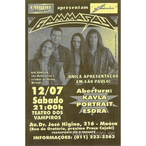 1997 – Somewhere Out In Space – Argentina Tour – Flyers.