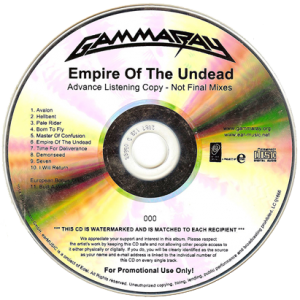2014 – Empire Of The Undead – Promo Cd.