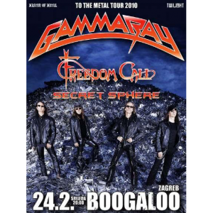 WANTED: 2010 – To The Metal Tour – 24/2 -10 – Zagreb – Flyer.