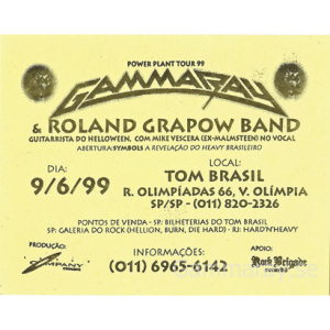 1999 – PowerPlant Tour -99 – Brazil – Flyer.