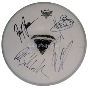 """Signed Drum Head – From """"To The Metal"""" Tour – 2010."""