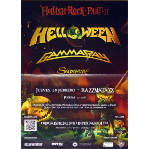 2013 – Hellish Rock Part II –  Barcelona, Spain – 28 Feb – Flyer.